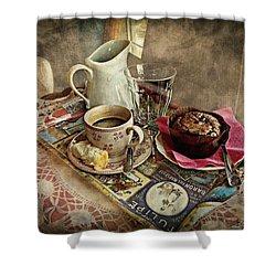Coffee Time Shower Curtain by Barbara Orenya