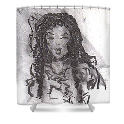 Shower Curtain featuring the drawing Colorful Beauty by Laurie L