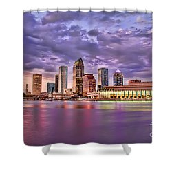 Colorful Night Lights Shower Curtain