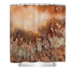 Colorful Plume Agate Shower Curtain by Leland D Howard