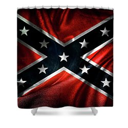 Confederate Flag Shower Curtain by Les Cunliffe