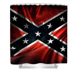 Confederate Flag 1 Shower Curtain