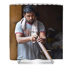 Shower Curtain featuring the photograph Cooking Breakfast Early Morning Lahore Pakistan by Imran Ahmed