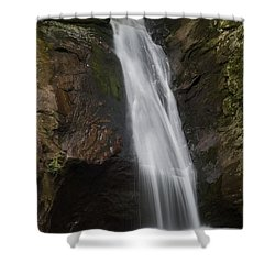 Courthouse Falls North Carolina Shower Curtain by Charles Beeler