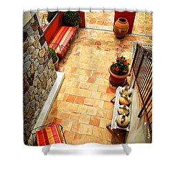 Courtyard Of A Villa Shower Curtain by Elena Elisseeva