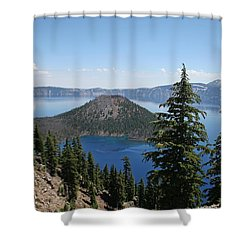 Crater Lake Oregon Shower Curtain by Tom Janca