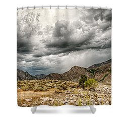 Dark Skies At Grant Lake Shower Curtain
