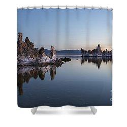Dawn On Mono Lake Shower Curtain by Sandra Bronstein