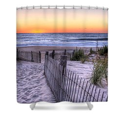 Dewey Beach Sunrise Shower Curtain