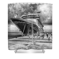 Shower Curtain featuring the photograph Disney Fantasy by Howard Salmon