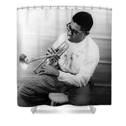Dizzy Gillespie (1917-1993) Shower Curtain by Granger