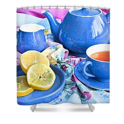 Do You Take Lemon? Shower Curtain by Theresa Tahara
