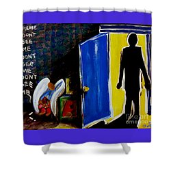 Don't See Me Shower Curtain by Jackie Carpenter