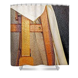 Draped Easel Shower Curtain