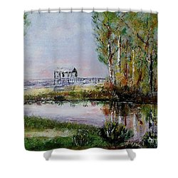 Fairhope Al. Duck Pond Shower Curtain by Melvin Turner