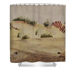 Shower Curtain featuring the painting Dunes by Mary Ellen Mueller Legault