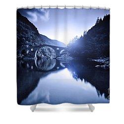 Dyavolski Most Arch Bridge Shower Curtain by Evgeny Kuklev