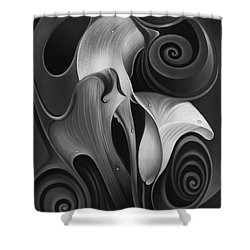 Dynamic Floral 4 Cala Lilies Shower Curtain by Ricardo Chavez-Mendez