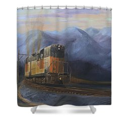 East Of The Belt Range Shower Curtain by Christopher Jenkins