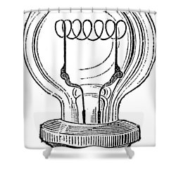 Edison Lamp, 19th Century Shower Curtain by Granger