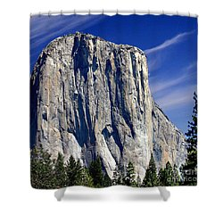 El Capitan Yosemite National Park Shower Curtain by Bob and Nadine Johnston