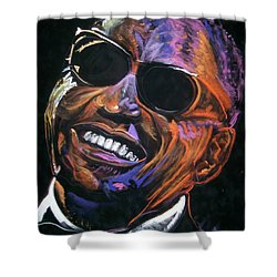 electric Ray Charles Shower Curtain