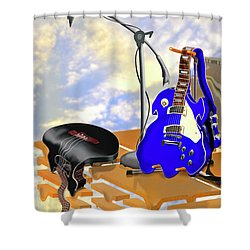Electrical Meltdown II Shower Curtain