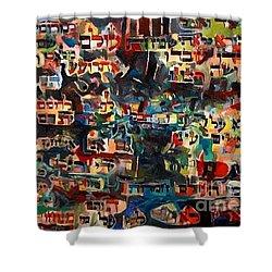 Eternal Happiness Shower Curtain by David Baruch Wolk