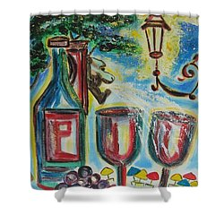 European Wine Shower Curtain by Diane Pape