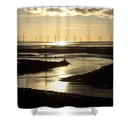 Evening Low Tide  Shower Curtain