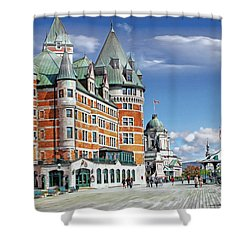 Fairmont Le Chateau Frontenac Series 01 Shower Curtain