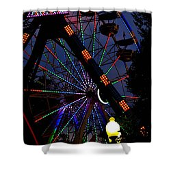 Fall Festival Ferris Wheel Shower Curtain by Deena Stoddard