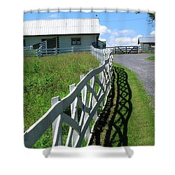Farm And Fence Shower Curtain by Frank Romeo