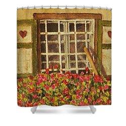 Farm Window Shower Curtain by Mary Ellen Mueller Legault