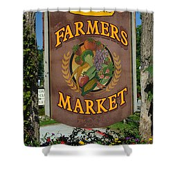 Farmers Market Shower Curtain by Frozen in Time Fine Art Photography