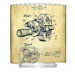 Film Camera Patent Drawing From 1938 Shower Curtain