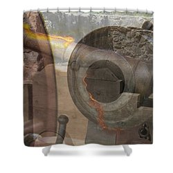 Shower Curtain featuring the photograph Fire In The Hole by Ella Kaye Dickey