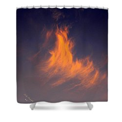 Shower Curtain featuring the photograph Fire In The Sky by Jeanette C Landstrom