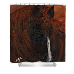 Shower Curtain featuring the painting Firestorm by Barbie Batson