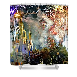 Fireworks Cinderellas Castle Walt Disney World Shower Curtain