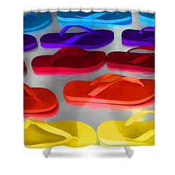 Flip Flopped Shower Curtain
