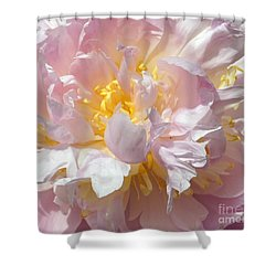 Shower Curtain featuring the photograph Flirtatious Pink by Lilliana Mendez