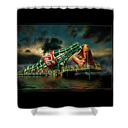 Floating Coke Bottle Shower Curtain