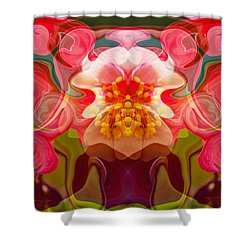 Shower Curtain featuring the painting Flower Child by Omaste Witkowski