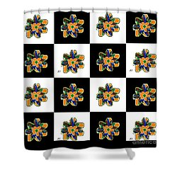 Flower Dance 2 Shower Curtain