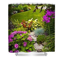 Flower Garden Shower Curtain by Elena Elisseeva