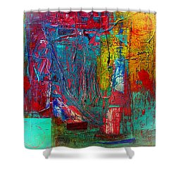 Shower Curtain featuring the painting Follow The Sun by Carolyn Repka