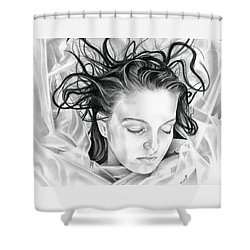 Forget Me Not - Laura Palmer - Twin Peaks Shower Curtain by Fred Larucci