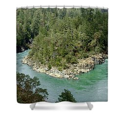 Forks Of The Smith River Shower Curtain by Betty Depee
