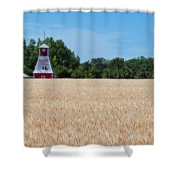 Fox Tower Shower Curtain by Keith Armstrong